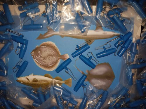 25 X LARGE BLUE  ZIPS SLIDER BOOMS boat rigs sea fishing Sale Great Value