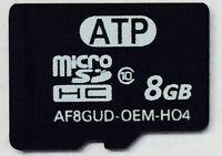 8gb Micro Sd Microsdhc Class 10 Flash Card For Blackberry Garmin Tom Tom Go Pro
