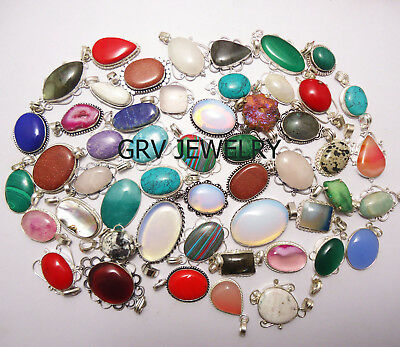 New Deal Opalite Gemstone 925 sterling silver overlay rings wholesale lot