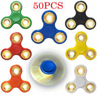 Lot 50x Hand Spinner Tri Fidget Toy Edc Finger Gyro For Kids Adult Us Stock