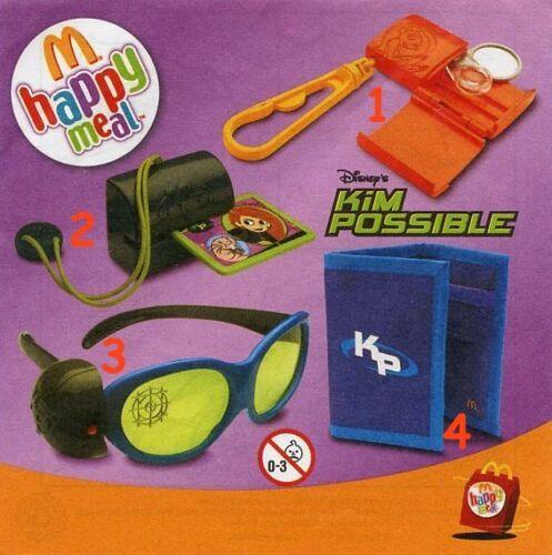 McDonald/'s MC DONALD/'S HAPPY MEAL 2006 Kim possible Pezzi singoli