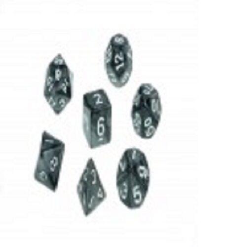 Dice Pearl Set of 7 Black Dice