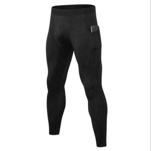 Details about  /Mens Gym Fitness Compression Cycling Tights Base Layer Sports Pants With Pocket