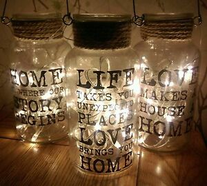Glass-jar-with-lights-Rustic-distressed-effect-rope-Pretty-slogan-Cute-lights