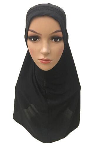 One Piece Muslim Women Amira Hijab Scarf Headscarf Wrap Cover Islamic Shawl