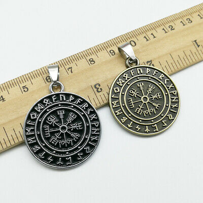 1//5pcs retro pirate rune compass charms pendant Jewelry DIY for necklace 35*30mm