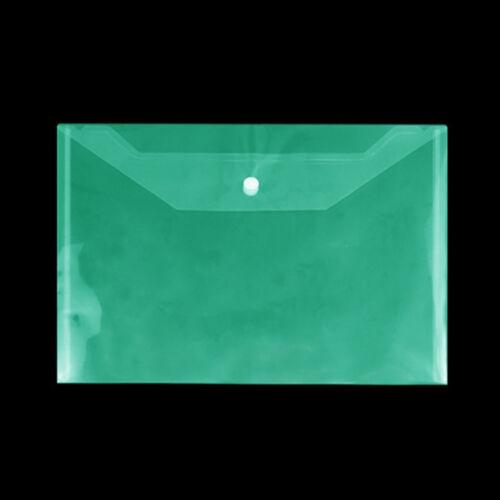 Envelope Lot A4 Plastic Stud Document Wallet Folders File Filing Storage Pouch