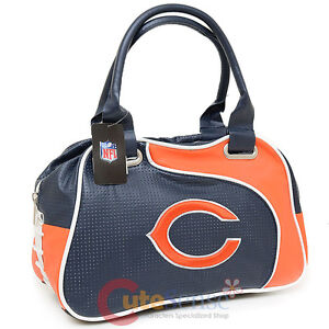 Image Is Loading Nfl Chicago Bears Bowler Bag Purse Hand