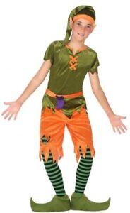 Garçons Filles Noël Elfe Lutin Goblin Jardin Pixie Fancy Dress Costume Outfit 3-12-afficher Le Titre D'origine Les Consommateurs D'Abord
