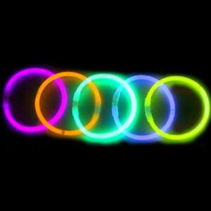 1000 premium 8 glow sticks bracelets neon colors party favors ebay
