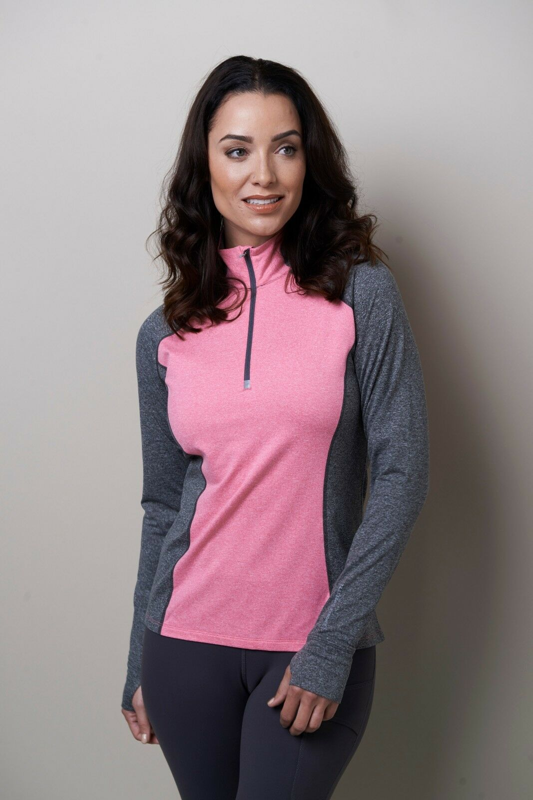 NEW  Noble Outfitters Athena 1/4 Zip Top Base Layer French Rosa Größes XS S