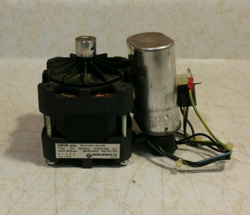 0916-534 Reaction Motor 7.5W 115V 1500//1800rpm With Capacitor Oriental Motor Co