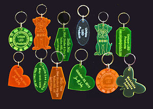 Details about Personalized Keychains, Key Tags, Key Rings **No Minimum order