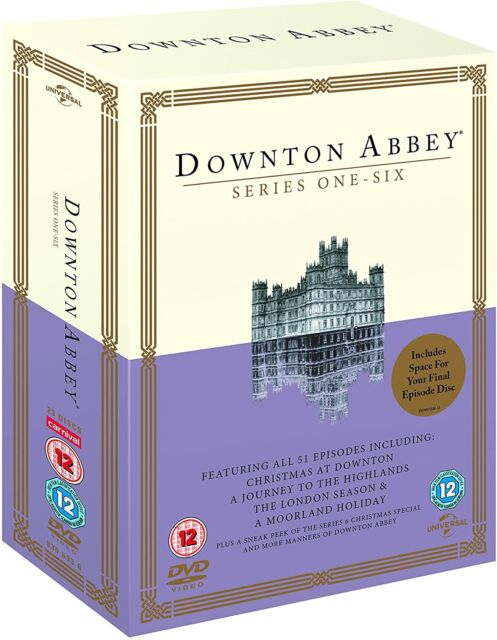 DOWNTON ABBEY - COMPLETE SERIES 1-6 [DVD] NEW & SEALED