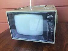 "Vintage Tote Vision 5"" Inch Black And White Tv Portable Television HY-5500"