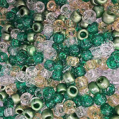 100 x HALLOWEEN MIX PONY BEADS DUMMY CLIPS PRAM CHARMS