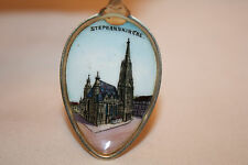 Stephan's Church Vintage Enameled 800 Silver Austria/Germany Souvenir Spoon