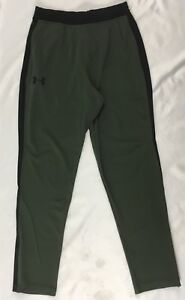 Under Armour MEN'S Running Jogger Sweat Pants Black Olive Green DEFECT 1294980 S