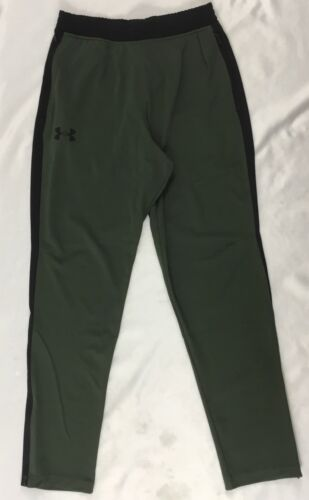 Under Armour MEN/'S Running Jogger Sweat Pants Black Olive Green DEFECT 1294980 S