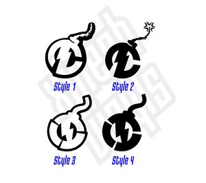 2 Nitro Circus Bomb Vinyl Sticker Decal Logo Motocross