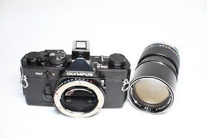 Olympus OM-2 Film Camera Black & Zuiko Auto-T 135mm F/2.8 MF Lens
