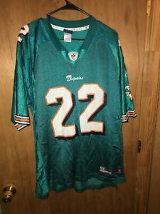 Details about Pre-owned: NFL Reggie Bush #22 Miami Dolphins Reebok On Field Green Jersey Large