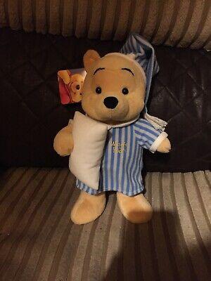 """Disney Winnie The Pooh Notte Dormire Peluche Morbido Giocattolo Da Collezione 11""""-mostra Il Titolo Originale"""