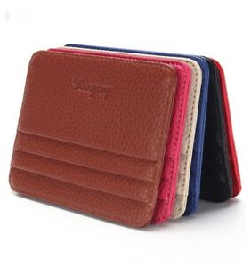 ID-Holder-Leather-Wallet-Money-Poket-With-ID-Window-Credit-Card-Holder-Slim-Case