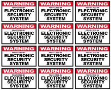 """12 qty of 3x5"""" Decal Sticker CCTV Alarm Sign WARNING ELECTRONIC SECURITY SYSTEM"""