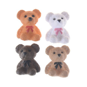 2PCS-1-12-1-6-Scale-Sitting-bear-for-Toy-Doll-Dollhouse-Miniature-Accessories-Pf