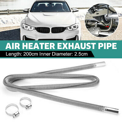 Car Stainless Steel Exhaust Pipe Parking Air Heater Tank Diesel Gas Vent Hose qw