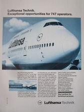 2/1992 PUB LUFTHANSA TECHNIK BOEING 747 AIRLINER MAINTENANCE ORIGINAL AD