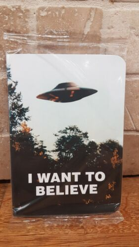 X-Files I Want to Believe UFO Alien Mini  Journal Notebook Note Pad NEW Loot