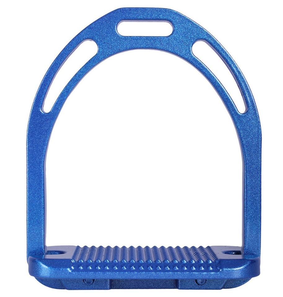 (QHP) Steigbügel Metallic Aluminium Metallic Steigbügel extra breite Trittfläche Metallprofil ed976f