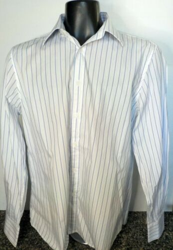 Gucci Blue/White Striped Button Down Fitted Dress