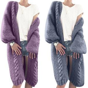Women-Chunky-Winter-Knitted-Sweater-Warm-Autumn-Cardigan-Sleeve-Jumper-Long-Coat