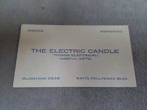 The electric candle hollywood ca business card blotter ebay image is loading the electric candle hollywood ca business card blotter colourmoves