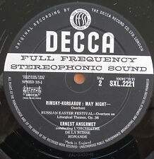 SXL 2221 ED1 WBG Rimsky-Korsakov Scheherazade Ansermet Decca Stereo