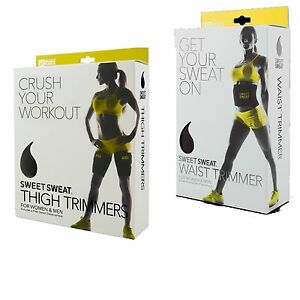 2fe59296ffc Sweet Sweat Waist and Thigh Trimmer Combo for Men Women Weight Lose ...