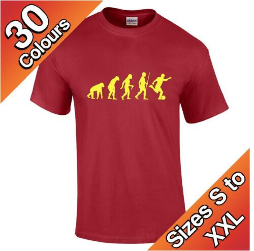 Evolution Football T-Shirt available in 30 colours Funny Joke Humor S to XXL