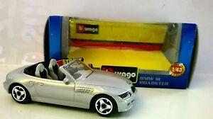BURAGO-STREET-FIRE-1-43-AUTO-DIE-CAST-BMW-545I-GRIGIO-ARGENTO-ART-18-30000