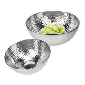 Salatschüssel Edelstahl Rührschüssel Servierschüssel Servierschale für