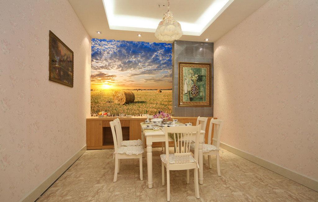 3D Sunrise Sky Lawn78 Wallpaper Mural Paper Wall Print Wallpaper Murals UK Lemon