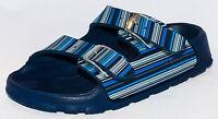 Birki's Sandals By Birkenstock For Boys Strap Haiti Strippe Patern Navy Narrow