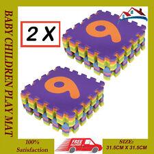 2X 0-9 número 10PCS grande bebé niños juegan mat De Espuma Suave Jigsaw Puzzle De Aprendizaje