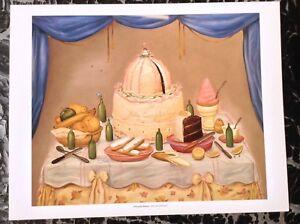 Pleasant Fernando Botero Print Vintage 2006 Art Figurative Painting Happy Funny Birthday Cards Online Hendilapandamsfinfo