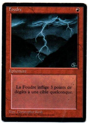 GOOD MTG FBB *MRM* FRENCH Foudre Lightning Bolt