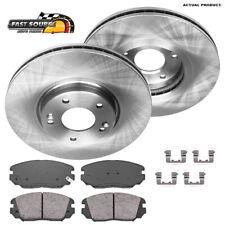 For 2006-2011 Hyundai Amanti Front Blank Brake Rotors+Ceramic Pads Kia Azera