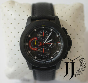 04e97e1df08da New Michael Kors Ryker Chronograph Black Dial Men s Watch MK8521 ...