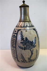 Carafe-bouteille-faience-Chinoise-CHINE-CHINESE-CHINOIS-CHINA